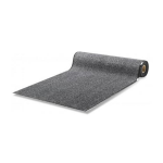 Rubber back carpet on roll